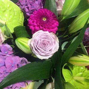 Zinging Indian summer bouquet